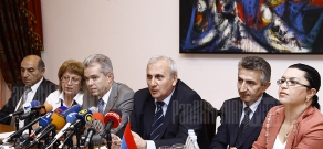 Press conference of Operational Safety Review Team (OSART) mission representatives