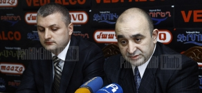 Press conference of Armenia's Medicine Producers and Importers Union CEO Samvel Zakaryan and chief editor of Pharm magazine Aram Ghazaryan
