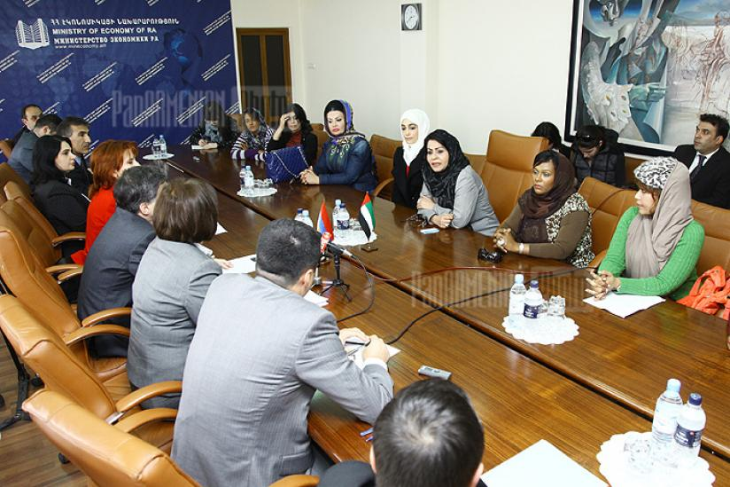 Meeting with women entrepreneurs from UAE at Ministry of Economy