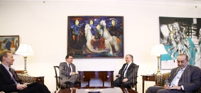 RA FM Edward Nalbandian receives the Deputy Assistant Secretary of State in the Bureau of Democracy, Human Rights and Labor, at the United States Department of State Thomas Melia