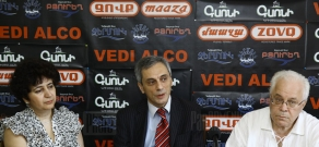 Press conference about piano contest after Arno Babajanyan
