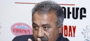 Press conference of ANC activist Sasun Mikaelyan