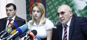 Press conference about security of elevators in Yerevan buildings