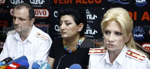Press conference of RA Police Criminal Investigation Third Department head Nelly Duryan and Armen Asatryan