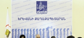 Press conference of Orange Armenia and Yerevan Municipality about installing Wi-Fi in Yerevan buses
