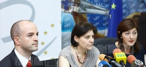 Press conference organized by EU dedicated to freedom in media