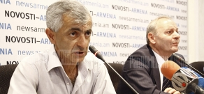 Press conference of RA chief toxicologist Michael Gabrielyan and Aram Aghasyan , the head of nature reserves department at RA Nature Protection Ministry