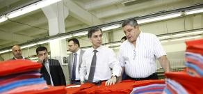 RA Minister of Economy Tigran Davtyan vistits