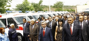 RA President Serzh Sargsyan visits ambulance center