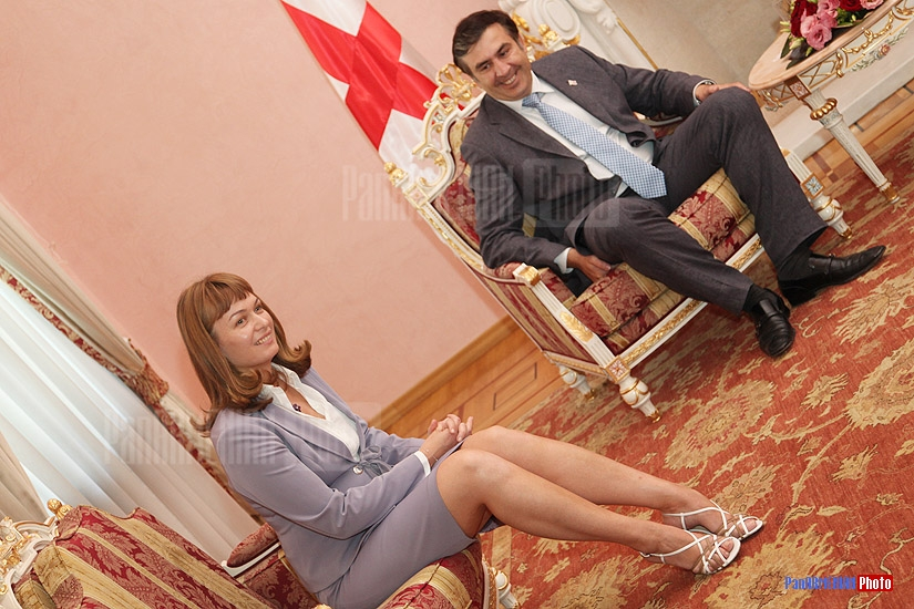 Mrs. Saakashvili and Mikheil Saakashvili
