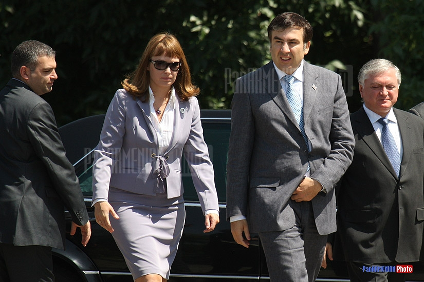 Mrs. Saakashvili, Mikheil Saakashvili and Edward Nalbandian