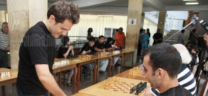 Chess master Levon Aronyan takes part in