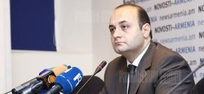 Press conference of Armenian Development Agency Robert Harutyunyan