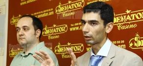 Press conference of Arabic studies specialist Arayik Harutyunyan and turkologist Artak Shakaryan