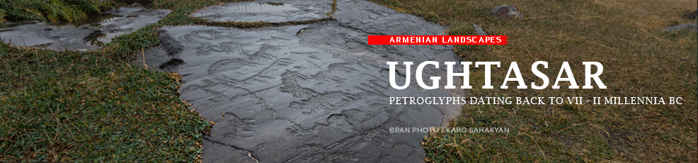 Armenian landscapes: Ughtasar, petroglyphs dating back to VII - II millennia BC
