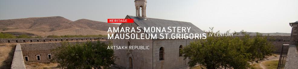 Artsakh Republic: Amaras Monastery, Mausoleum of St.Grigoris (IV century)