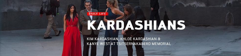 Kim and Khloe Kardashian visit Tsitsernakaberd Memorial