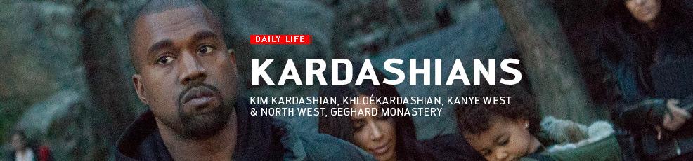 Kim Kardashian and her family visit Geghard Monaster