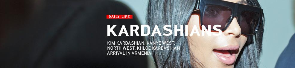 Kim Kardashian's arrival in Armenia