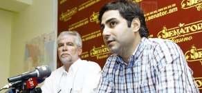 Press conference of RA Architects Union deputy chairman Alexander Badalyan and member of the union Sarhat Petrosyan