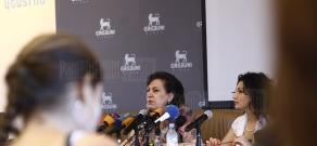 Press conference of RA Diaspora Minister Hranush Hakobyan
