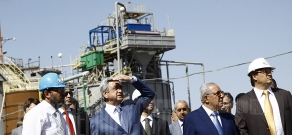 Armenian President attended the official ceremony of laying the foundation of a new gold mining plant Albion