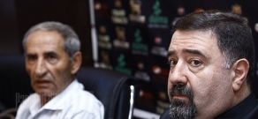 Press conference of engineer of the Special Public Service CJSC under Yerevan Municipality Razmik Harutyunyan and priest Komitas Vardapet Hovnanyan about funeral services