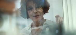 French actress Fanny Ardant visits museum of Sergei Parajanov