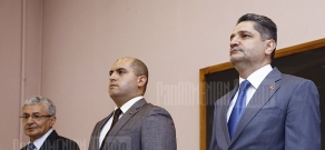 Lecture on current economical problems is held at YSU Economics faculty with participation of PM Tigran Sargsyan