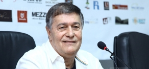 Press conference of director Roman Balayan within the frameworks of Golden Apricot 8th Film Festival