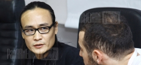 Press conference of Chinese director Li Hongqi within the frameworks of Golden Apricot 8th Film Festival