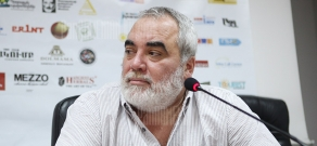 Press conference of director Cornel Gheorghita within the frameworks of Golden Apricot 8th Film Festival