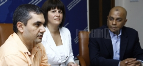Press conference of RA deputy minister of economy Karine Minasyan and CEO of