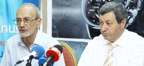 Press conference of the President of the Union of Consumers Armen Poghosyan and the Head of the Public Council's Committee on Financial, Economic and Budgetary Affairs Vazgen Safaryan