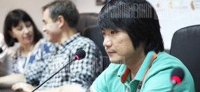 Press conference of Olivier Coussemacq and Park Jungbum within the frameworks of Golden Apricot 8th Film Festival