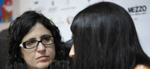 Press conference of Paola Markovitch within the frameworks of Golden Apricot 8th Film Festival