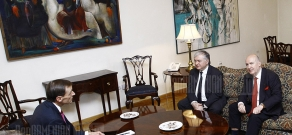 RA FM Edward Nalbandian receives OSCE Minsk group co-chairs