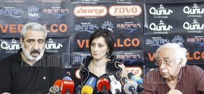 Press conference of editor-in-chief of Azg newspaper Hakob Avetikyan and public speaker Tigran Paskevichyan