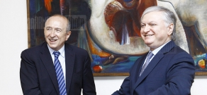 RA FM Edward Nalbandian receives Senator-Mayor of Lyon Gerard Collomb
