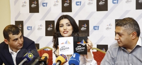 Press conference of Junior Eurovision organizers, delegation head Gohar Gasparyan, executive producer Levon Simonyan and producer Grigor Nazaryan