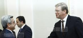 Եվրահանձնակատար Շտեֆան Ֆյուլեն ՀՀ նախագահի նստավայրում