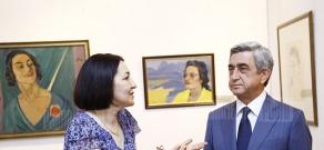 President Serzh Sargsyan visits Martiros Saryan museum