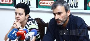Press conference of Sardarapat movement representative Zhirayr Sefilyan