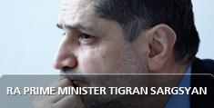 RA former Prime Minister Tigran Sargsyan