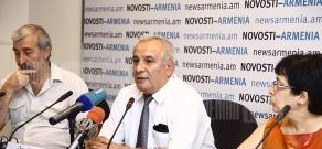 Press conference of environmentalists Aram Gabrielyan, Ruben Petrosyan and Diana Harutyunyan