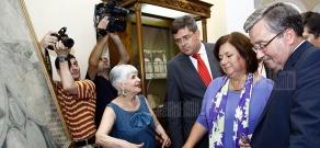 President of Poland Bronislaw Komorowski visits Matenadaran museum-institute of old manuscripts
