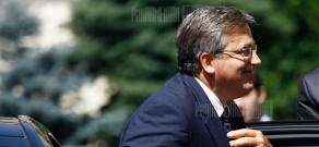 RA President Serzh Sargsyan hosts a farewell meeting for his Polish counterpart Bronislaw Komorowski