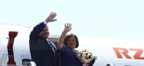 President of Poland Bronislaw Komorowski departs from Yerevan