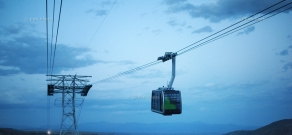 Opening ceremony of the world's longest reversible ropeway