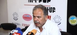 Press conference of the Head of Western Armenians Studies' Center Haykazun Alvrtsyan